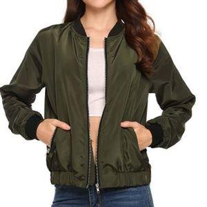 Jackets & Blazers - Women's Bomber Jacket Solid Biker Lightweight Coat